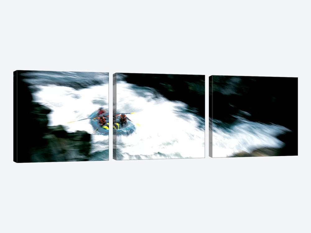 White Water Rafting Salmon River CA USA by Panoramic Images 3-piece Canvas Art Print