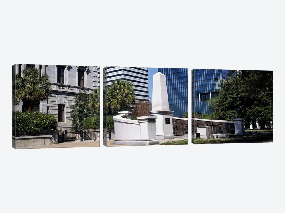 African American History Monument, South Carolina State House, Columbia, South Carolina, USA by Panoramic Images 3-piece Canvas Art Print