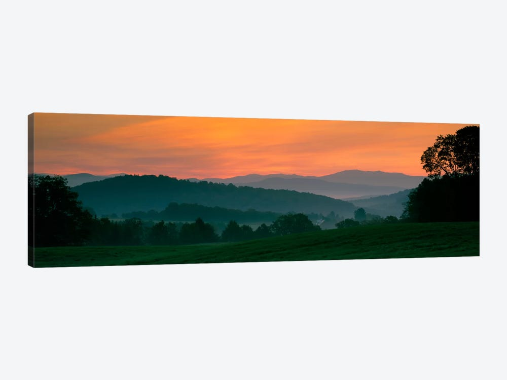 Foggy Hillside Sunrise, Caledonia County, Vermont, USA by Panoramic Images 1-piece Canvas Artwork