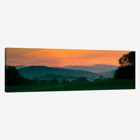 Foggy Hillside Sunrise, Caledonia County, Vermont, USA Canvas Print #PIM1322} by Panoramic Images Canvas Art