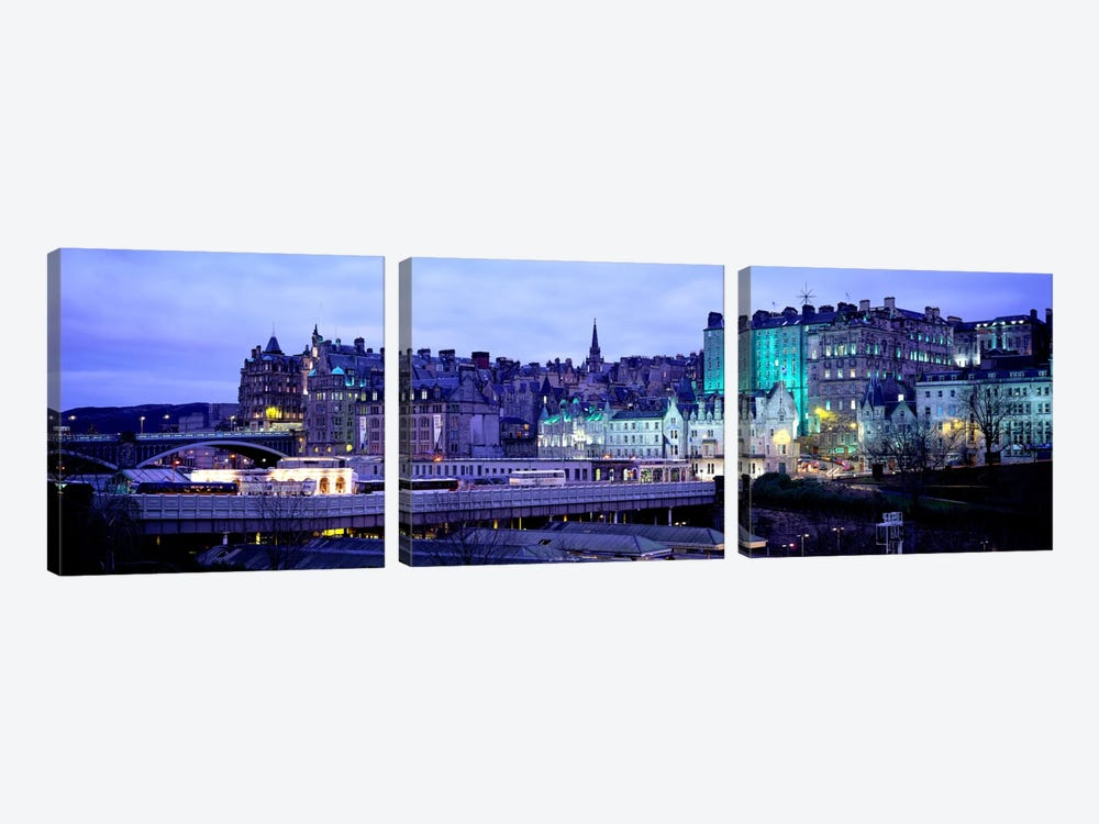 The Old Town Edinburgh Scotland by Panoramic Images 3-piece Canvas Artwork