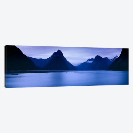 Mountains At Dawn, South Island, New Zealand Canvas Print #PIM13288} by Panoramic Images Canvas Art