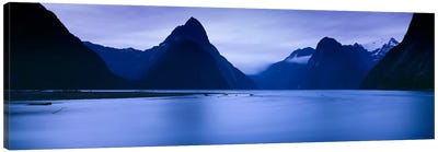 Mountains At Dawn, South Island, New Zealand Canvas Art Print