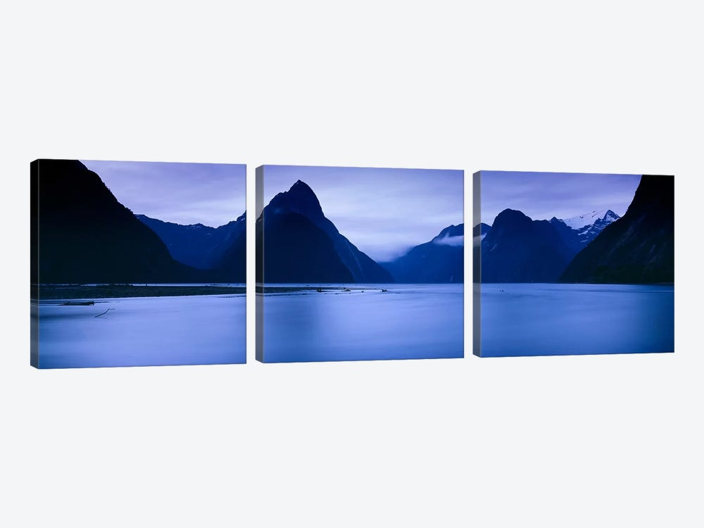 Mountains At Dawn, South Island, New Zealand by Panoramic Images 3-piece Art Print