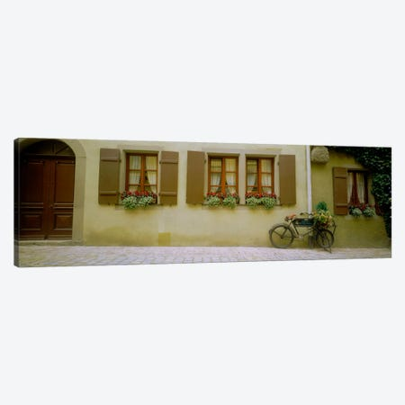 Lone Bicycle, Rothenburg ob der Tauber, Ansbach, Middle Franconia, Bavaria, Germany Canvas Print #PIM1328} by Panoramic Images Canvas Artwork