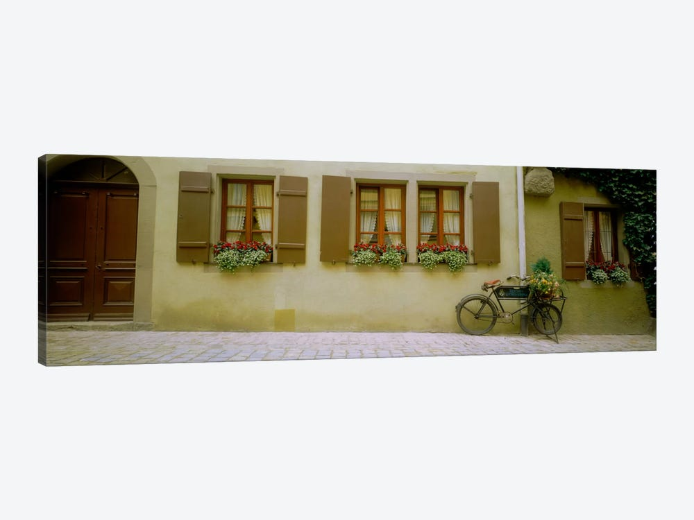 Lone Bicycle, Rothenburg ob der Tauber, Ansbach, Middle Franconia, Bavaria, Germany by Panoramic Images 1-piece Canvas Art