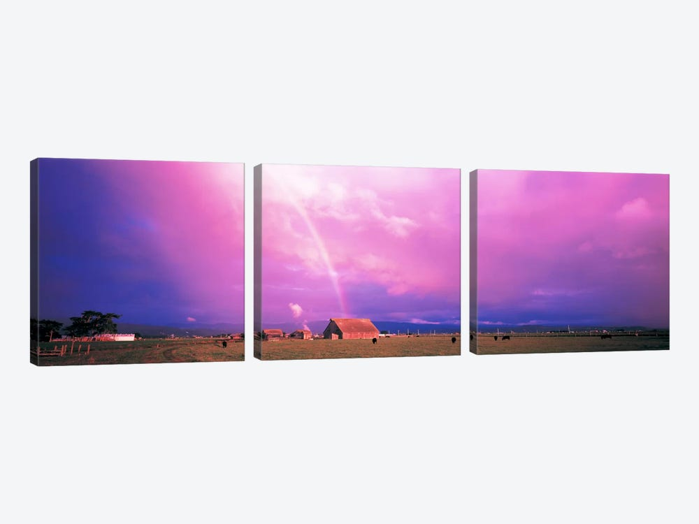 Rainbow Arcata CA USA by Panoramic Images 3-piece Canvas Art