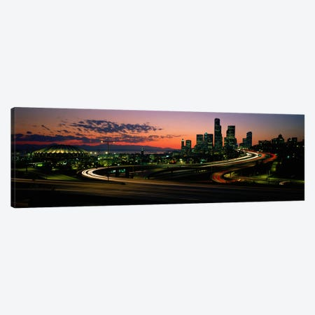 Sunset Puget Sound & Seattle skyline WA USA Canvas Print #PIM1330} by Panoramic Images Canvas Art Print
