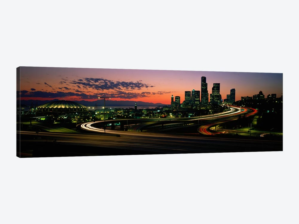 Sunset Puget Sound & Seattle skyline WA USA by Panoramic Images 1-piece Art Print