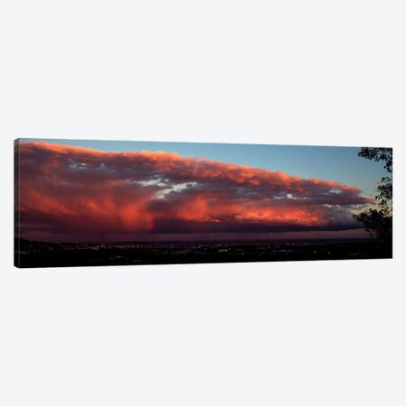 Storm Clouds At Sunset, Cannes, Provence-Alpes-Cote d'Azur, France Canvas Print #PIM13311} by Panoramic Images Canvas Art