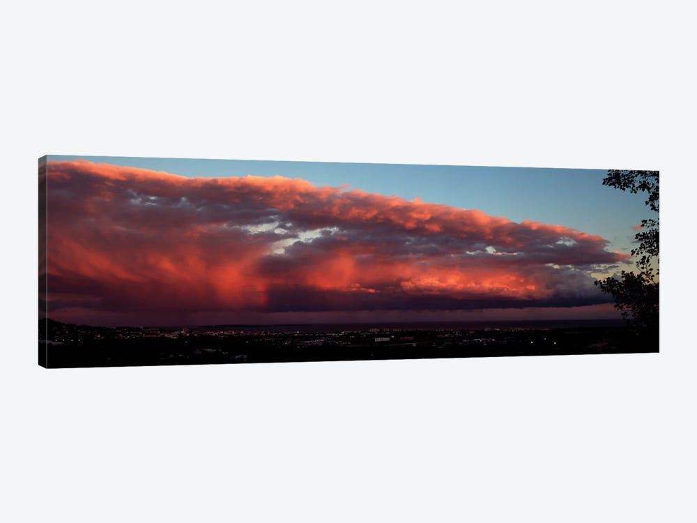 Storm Clouds At Sunset, Cannes, Provence-Alpes-Cote d'Azur, France by Panoramic Images 1-piece Canvas Wall Art