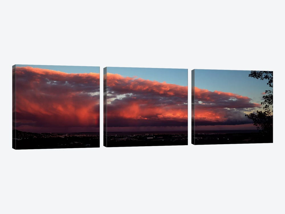 Storm Clouds At Sunset, Cannes, Provence-Alpes-Cote d'Azur, France by Panoramic Images 3-piece Canvas Art