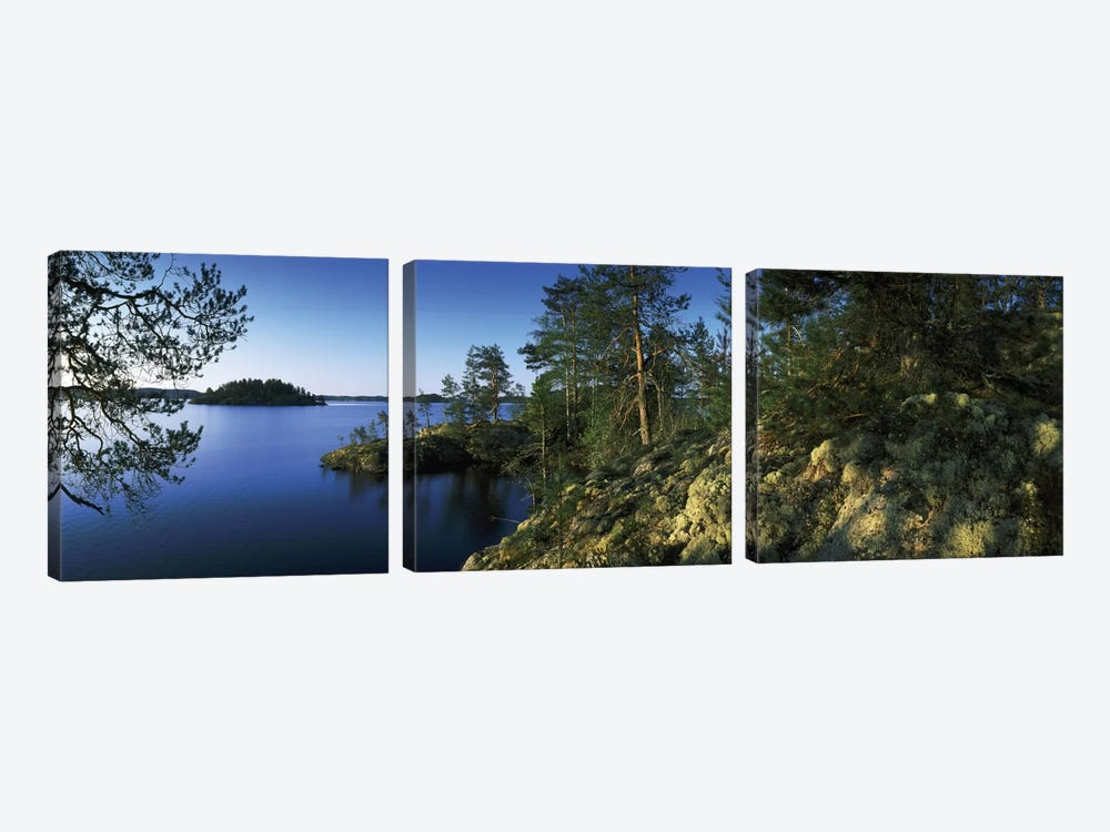 Landscape I, Lake Saimaa, Puumala, Finland by Panoramic Images 3-piece Canvas Art Print