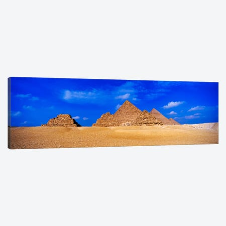 Great Pyramids & Pyramids Of Queens, Giza Pyramid Complex, Giza, Egypt Canvas Print #PIM1331} by Panoramic Images Canvas Print