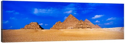 Great Pyramids & Pyramids Of Queens, Giza Pyramid Complex, Giza, Egypt Canvas Art Print