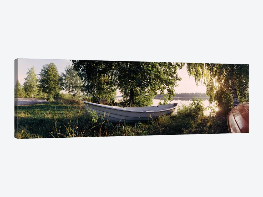 Boat On The Bank II, Vuoksi River, Imatra, Finland by Panoramic Images 1-piece Canvas Art Print