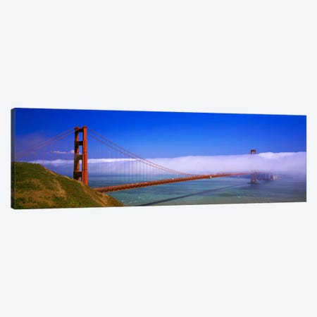 Fog Cloud Over The Golden Gate Bridge, California, USA Canvas Print #PIM1333} by Panoramic Images Canvas Art Print