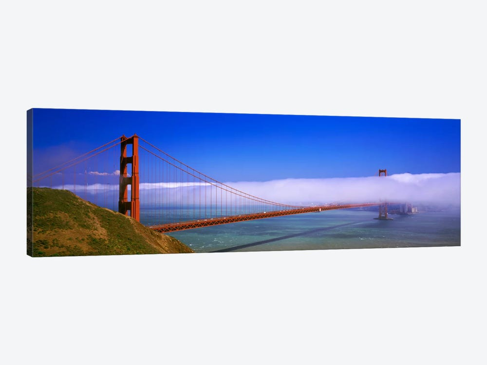 Fog Cloud Over The Golden Gate Bridge, California, USA by Panoramic Images 1-piece Canvas Artwork