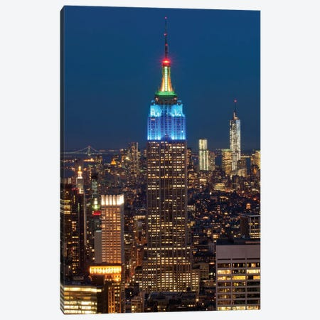 Empire State Building At Night III, Manhattan, New York City, New York, USA Canvas Print #PIM13340} by Panoramic Images Canvas Print