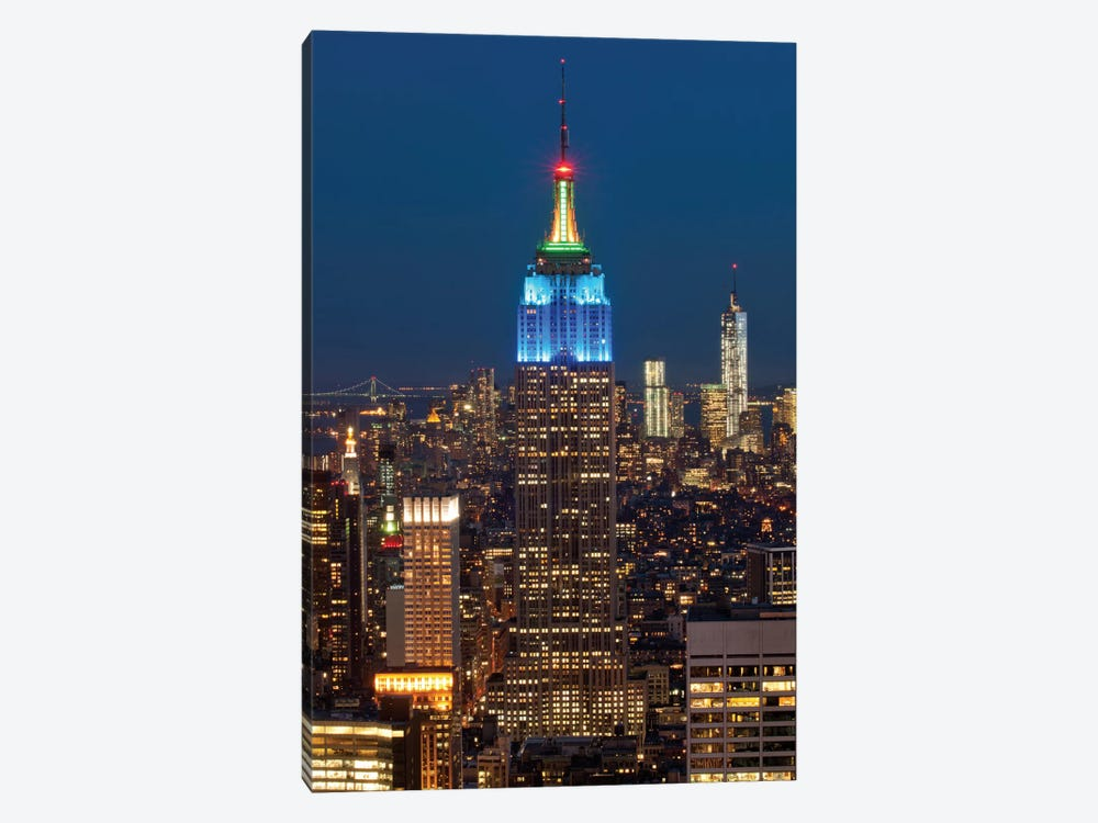 Empire State Building At Night III, Manhattan, New York City, New York, USA by Panoramic Images 1-piece Canvas Wall Art
