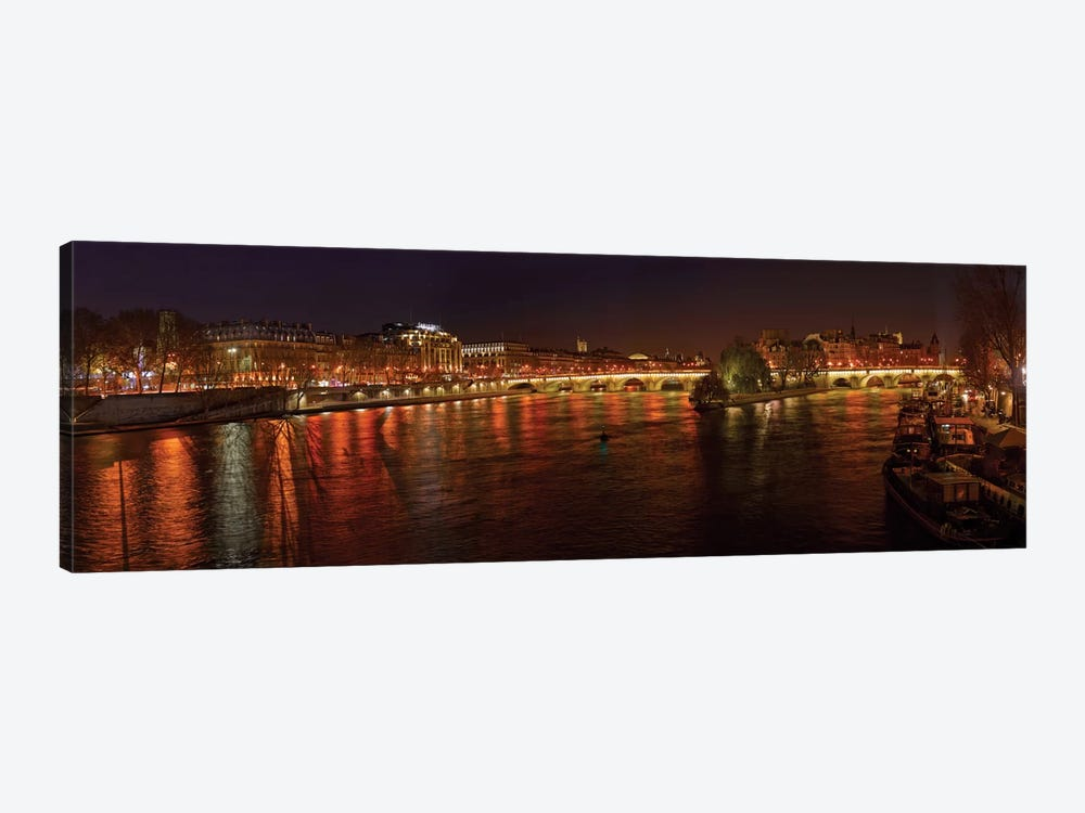 Pont Neuf and Ile de la Cite As Seen From Pont des Arts I, River Seine, Paris, Ile-de-France, France by Panoramic Images 1-piece Canvas Art Print