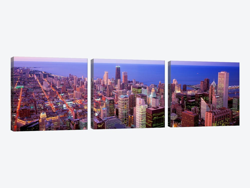 Chicago, Illinois, USA by Panoramic Images 3-piece Canvas Wall Art