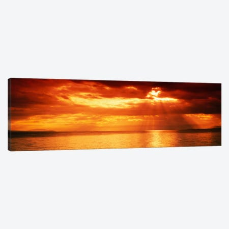 Sunset, Lake Geneva, Switzerland Canvas Print #PIM1337} by Panoramic Images Canvas Wall Art