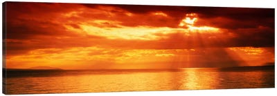Sunset, Lake Geneva, Switzerland Canvas Art Print