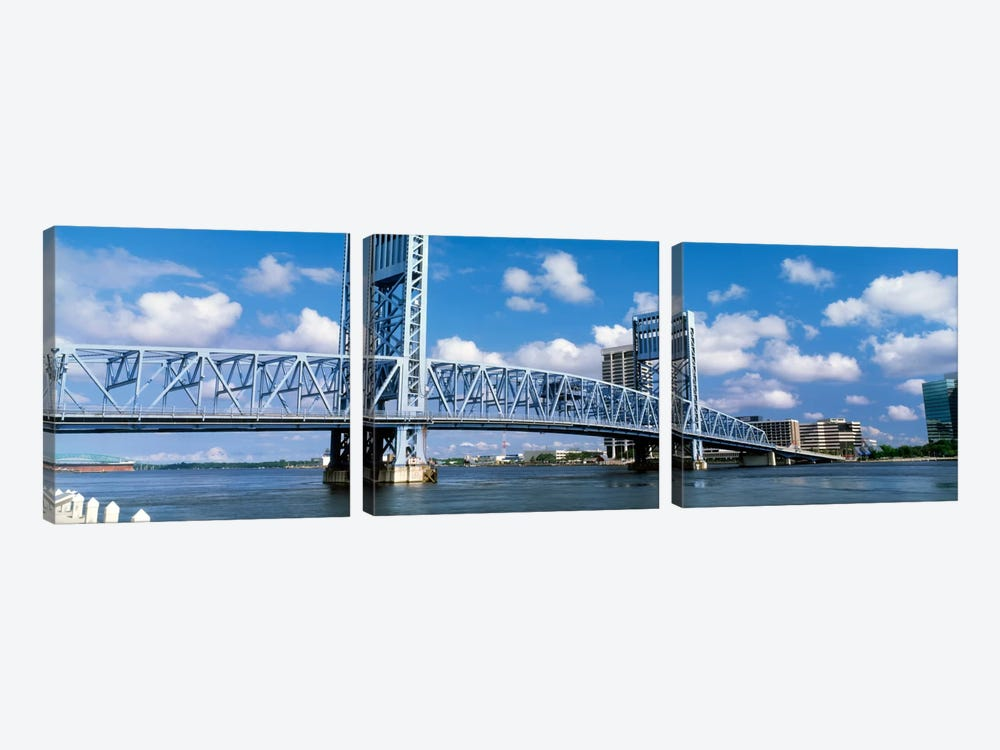 Main Street Bridge, Jacksonville, Florida, USA by Panoramic Images 3-piece Canvas Art Print