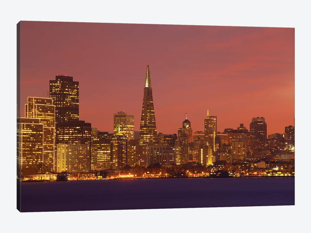 Downtown Skyline At Night I, San Francisco, California, USA by Panoramic Images 1-piece Canvas Art