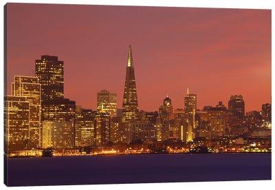 Downtown Skyline At Night I, San Francisco, California, USA Canvas Art Print