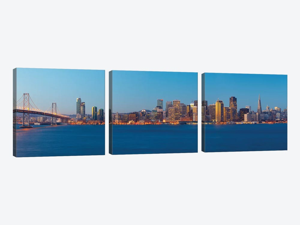 Downtown Skyline At Dusk III, San Francisco, California, USA by Panoramic Images 3-piece Art Print