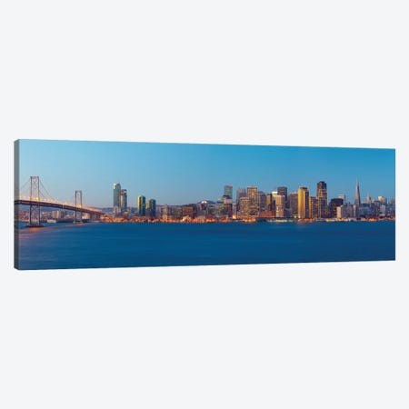 Downtown Skyline At Dusk III, San Francisco, California, USA Canvas Print #PIM13398} by Panoramic Images Canvas Artwork
