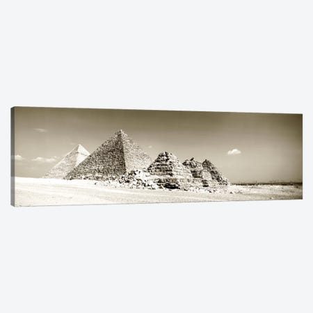 Pyramids Of Giza, Egypt Canvas Print #PIM1339} by Panoramic Images Canvas Print