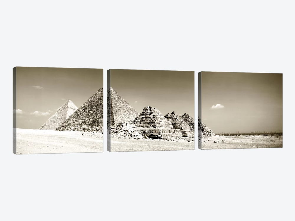 Pyramids Of Giza, Egypt by Panoramic Images 3-piece Canvas Artwork