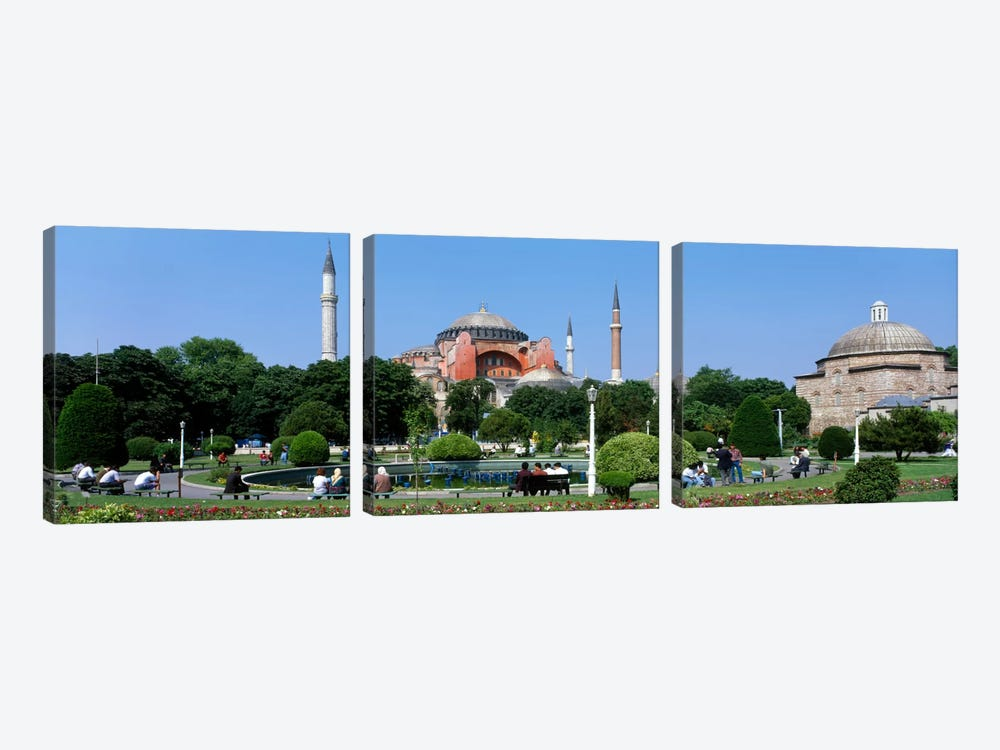 Hagia Sophia, Istanbul, Turkey by Panoramic Images 3-piece Canvas Art Print