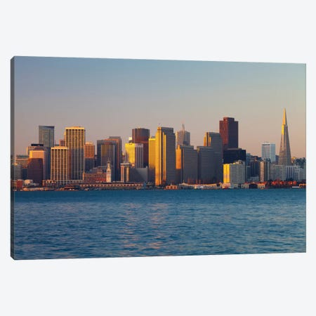 Downtown Skyline At Dusk V, San Francisco, California, USA Canvas Print #PIM13400} by Panoramic Images Canvas Artwork