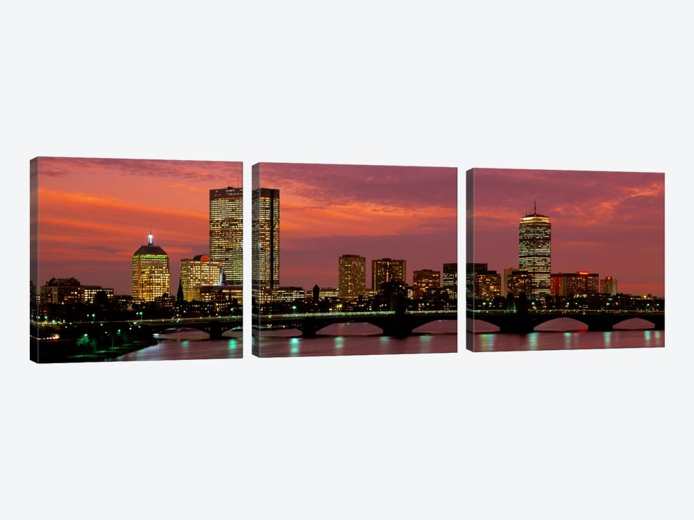 Back Bay, Boston, Massachusetts, USA by Panoramic Images 3-piece Canvas Artwork