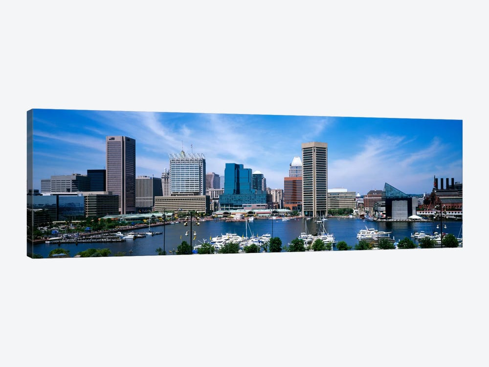 Inner Harbor, Baltimore, Maryland, USA 1-piece Canvas Art Print