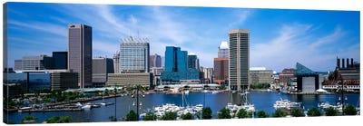 Inner Harbor, Baltimore, Maryland, USA Canvas Art Print