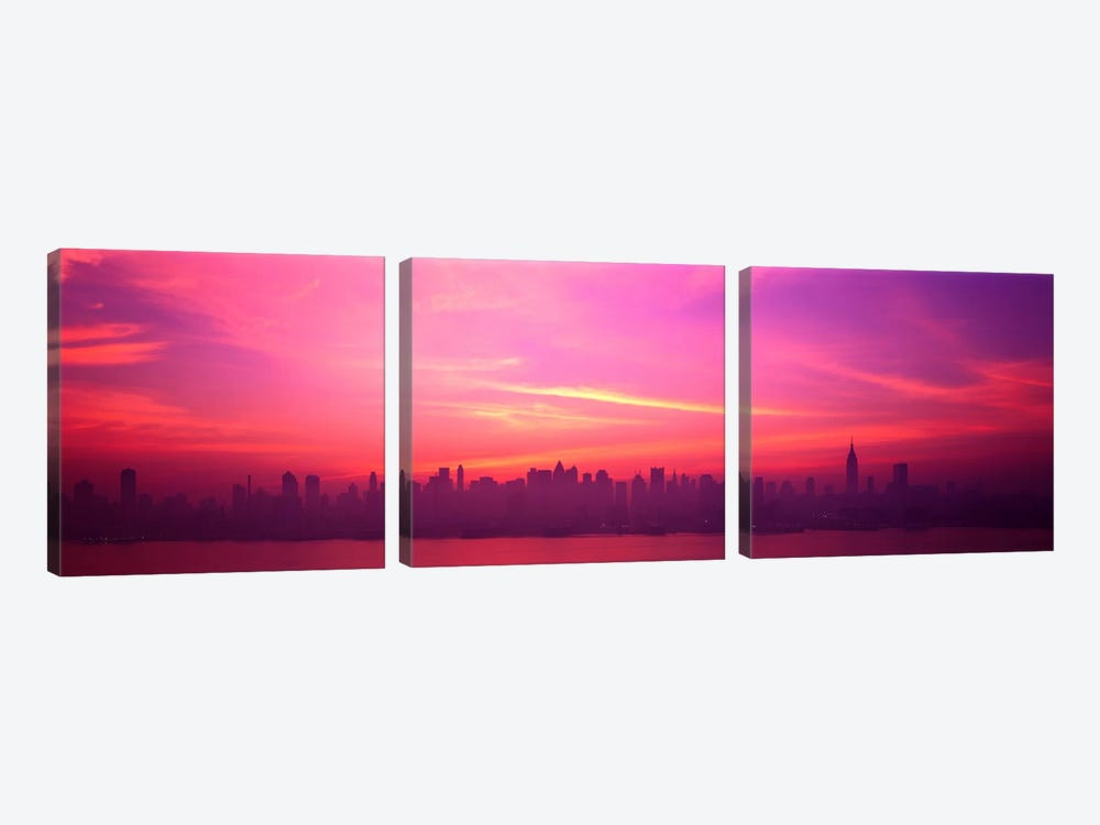 Skyline, NYC, New York City, New York State USA by Panoramic Images 3-piece Canvas Art Print