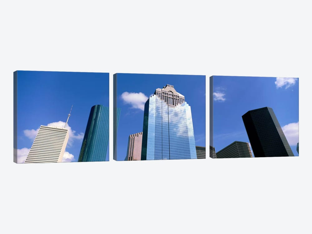 Downtown Office Buildings, Houston, Texas, USA by Panoramic Images 3-piece Canvas Art