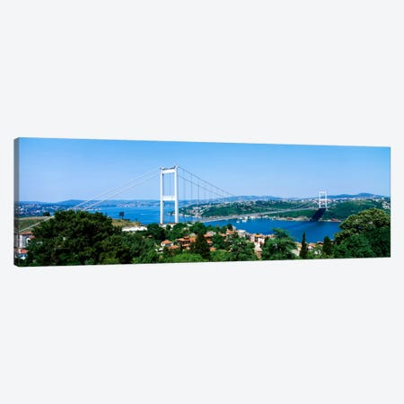 Fatih Sultan Ahmet Bridge, Istanbul, Turkey Canvas Print #PIM134} by Panoramic Images Canvas Art Print