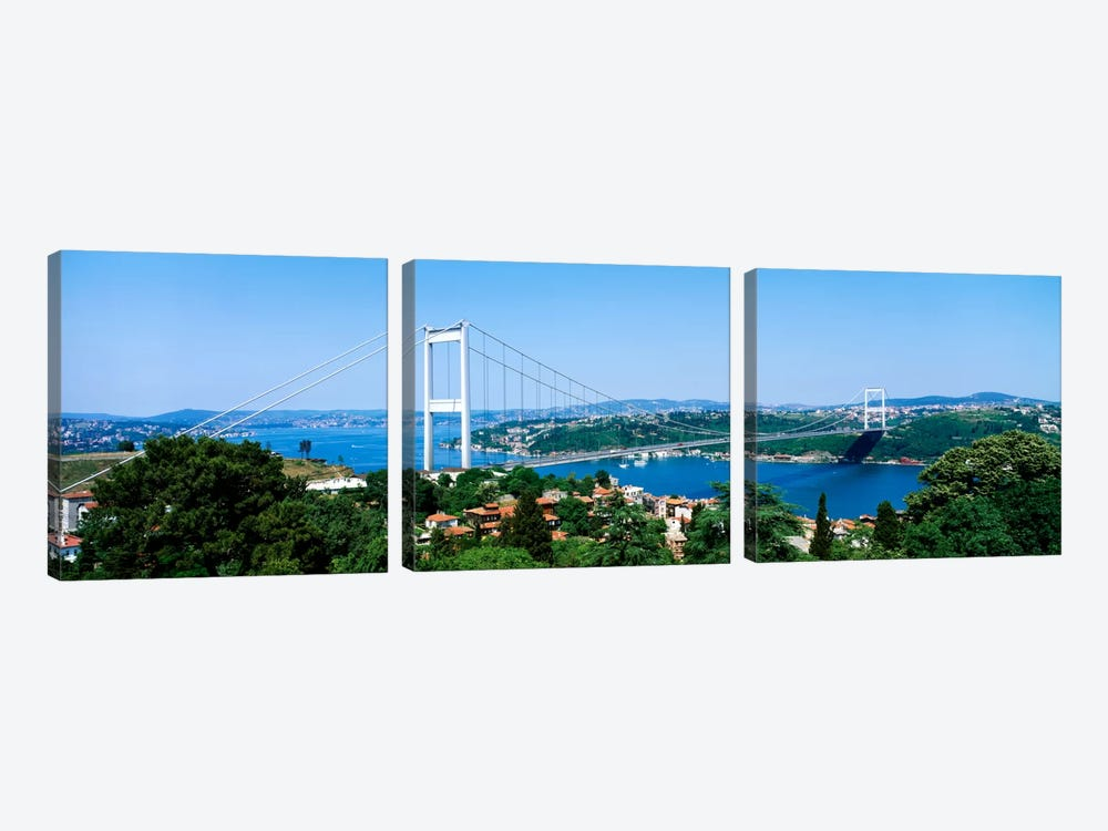 Fatih Sultan Ahmet Bridge, Istanbul, Turkey by Panoramic Images 3-piece Canvas Wall Art