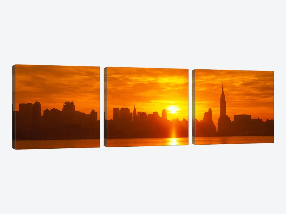 NYC, New York City New York State, USA by Panoramic Images 3-piece Canvas Art Print