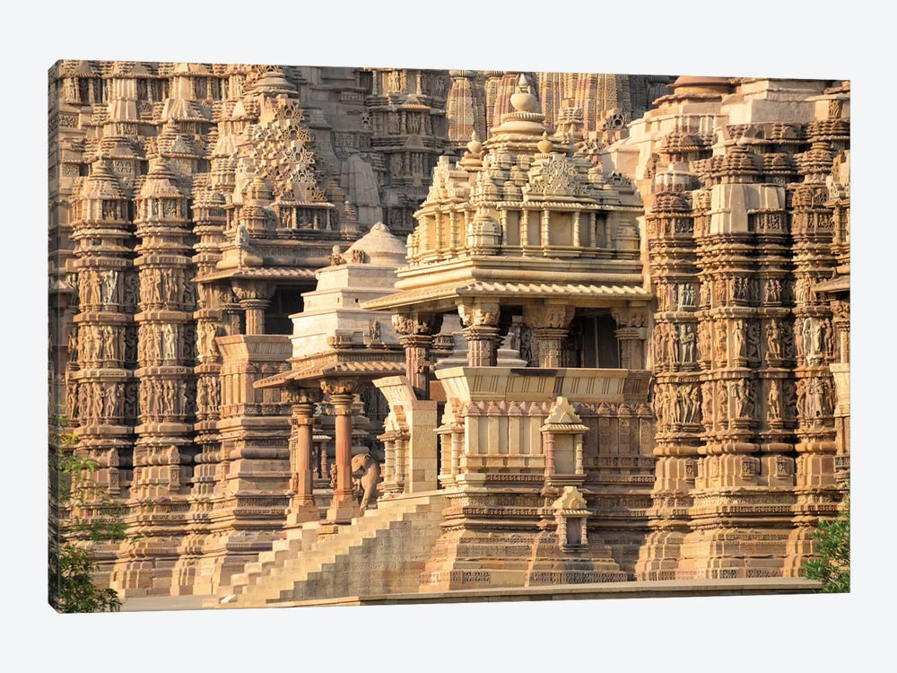 Khajuraho Group of Monuments I, Chhatarpur District, Madhya Pradesh, India by Panoramic Images 1-piece Canvas Wall Art