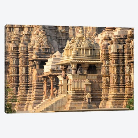 Khajuraho Group of Monuments I, Chhatarpur District, Madhya Pradesh, India 3-Piece Canvas #PIM13542} by Panoramic Images Canvas Print
