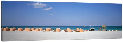 Beach Scene, Miami, Florida, USA Canvas Art Print