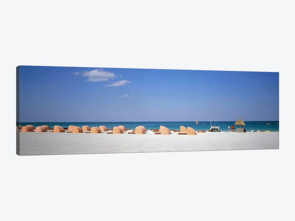Beach Scene, Miami, Florida, USA 1-piece Canvas Wall Art
