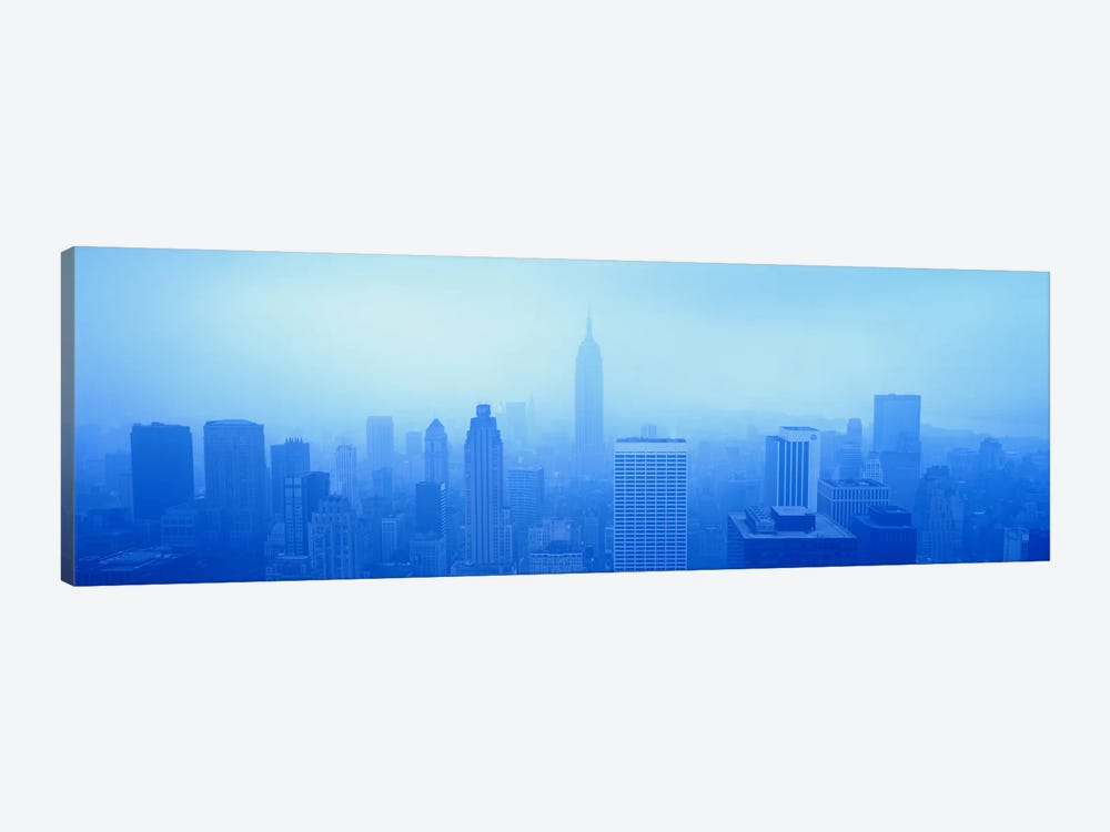 Downtown Skyline On A Hazy Day, New York City New York, USA by Panoramic Images 1-piece Art Print